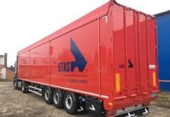 Stas. Продается Полуприцеп с подвижным полом Biostar, новый, 36 000кг.