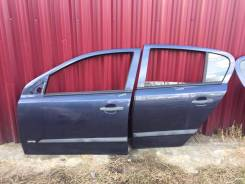 Дверь задняя левая Opel Astra H 5d синяя