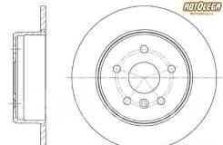 Диск тормозной зад. G-brake Toyota Harrier/RX300 #10 Kluger ACU/MCU20 GR-01136