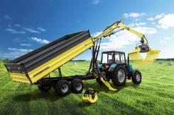 Agromaster. ПолуПрицеп тракторный с манипулятором DL