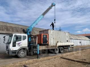 Аренда грузовика 12 тонн с краном 7 тонн. Эвакуатор. Грузоперевозки.