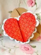 3Д Открытка ручной работы Сердце. Под заказ