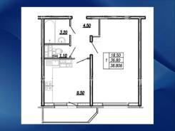 1-комнатная, улица Бабушкина 82 кор. 2. Невский, частное лицо, 38,0кв.м.