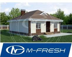 M-fresh Optimum (Готовый проект одноэтажного дома с 4 комнатами! Да! ). 100-200 кв. м., 1 этаж, 4 комнаты, бетон