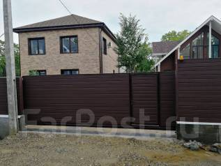 Забор, откатные ворота , сдвижные , каркасы на откатные ворота .