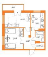 2-комнатная, улица Лазо 31. Железнодорожный, агентство, 53,0кв.м.
