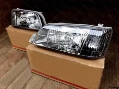 Фары Комплект 2шт Toyota Camry SV40 (94-98г) Черный Хрусталь Евросвет!