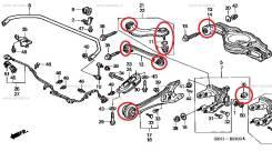 Сайлентблок, втулка подвески. Honda: Accord, Odyssey, Accord Tourer, S-MX, Stepwgn, Shuttle, Legend K20A, K24A, F22B, F22B6, F22B9, F22Z3, F23A7, F23A...
