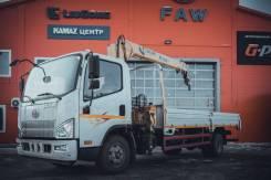 FAW Tiger V. Бортовой грузовик FAW TigerV c КМУ XCMG, 4 087куб. см., 3 640кг., 4x2
