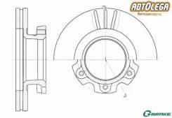 Диск тормозной пер. G-brake Isuzu ELF NHR69 NHS69, 55 VHR69,66