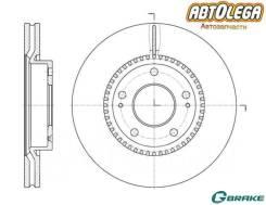 Диск тормозной пер. G-brake Hyundai iX35/Sonata (NF)/KIA Sportage (SL) GR-20242