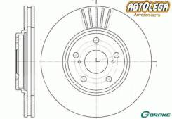 Диск тормозной G-brake Toyota Harrier #10/15, RX300 MCU1#, Kluger #CU2# GR-02784