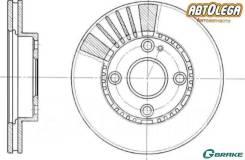Диск тормозной перед. G-brake Mazda Familia / 323 BJ# 1.5 / 1.8 98-04 GR-02546