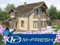 M-fresh Izabella (Проект дома из газобетонных блоков с чудным эркером). 200-300 кв. м., 2 этажа, 4 комнаты, бетон
