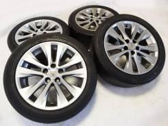 """Диски Toyota c шинами 225x50x18 Bridgestone. 7.5x18"""" 5x114.30 ET45 ЦО 60,1мм."""