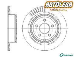 Диск тормозной зад. G-brake Infiniti EX, FX, G, M, Nissan Murano (Z50, Z51)