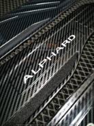 Накладки на пороги Toyota Alphard 2015год+ (Black carbon) LED - 4шт