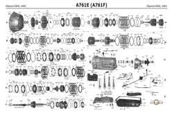 Автомат Toyota A760 в разборе АКПП A760E A761 A960