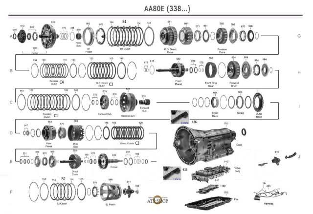АКПП Lexus LS460 в разборе AA80E, F AA81E, TL-80