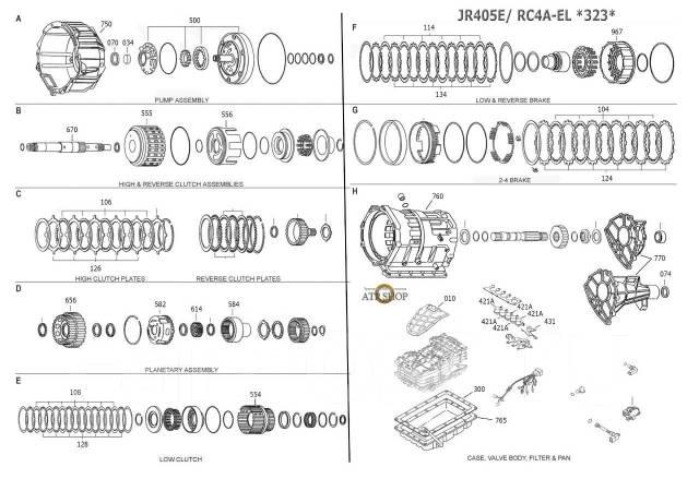 АКПП JR405E в разборе Автомат RC4A-EL mazda bongo
