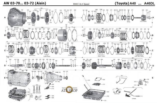 АКПП Toyota 03-70L в разборе автомат тойота AW0370