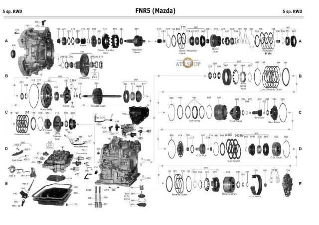 Автомат Mazda/Ford в разборе FS5A-EL(FNR5) мазда 6