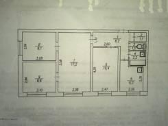 4-комнатная, пгт. Ярославский, Ленинская, д. 5. Хорольский район., частное лицо, 61,0кв.м. План квартиры