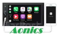 Автомагнитола SONY XAV-AX1000 с Apple CarPlay и технологией Bluetooth.