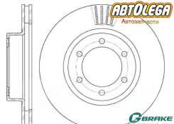 Диск тормозной пер. G-brake Toyota L. Cruiser Prado J120, Lexus GX470 GR-02916