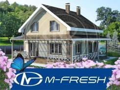 M-fresh Rubin (Готовый проект экономичного дома без излишеств! ). 100-200 кв. м., 2 этажа, 4 комнаты, бетон