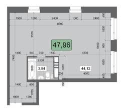3-комнатная, улица Брянская 18а. Чуркин, агентство, 48,0кв.м. План квартиры