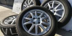 Отличный комплект литых дисков Weds на шинах 175/65R15 Yokohama