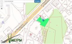 Участок вдоль Федеральной трассы на Седанке. 2 000кв.м., собственность, электричество, вода. План (чертёж, схема) участка