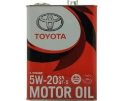 Toyota. 5W-20, синтетическое, 4,00л.