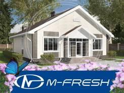 M-fresh Atmosfera (Проект красивого дома с выразительным фасадом! ). 100-200 кв. м., 1 этаж, 5 комнат, бетон