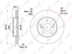 Диск тормозной | перед прав/лев | Toyota Auris(E15) 1.33-1.8 07- / Corolla(E15, E18) 1.33-1.8 07