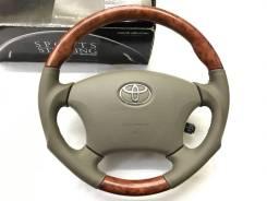 """Анатомический обод руля """"Silk Blaze"""" с косточкой под дерево для Toyota"""