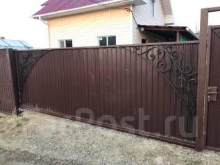 Изготовления откатных ворот, заборов и кованных изделий(фасады, кровля)