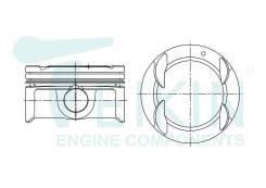 Поршень двигателя G4FC Teikin (4шт/упак) 51145-STD