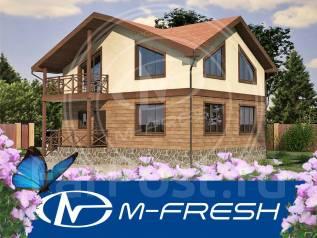 M-fresh Fenix (Строительный проект двухэтажного дома с балконом! ). 100-200 кв. м., 2 этажа, 4 комнаты, бетон