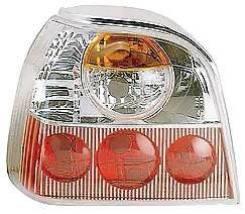 Фонарь Задний Внешний Левый+Правый (Комплект) Тюнинг (Lexus ТИП) Прозрачный Внутри БЕЛО-Красный Volkswagen Golf - III 11/1991-09/1997 [Vwglf92-742WR...