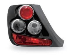 Фонарь Задний Внешний Левый+Правый (Комплект), Тюнинг (3 ДВ), Красно-Белый (Junyan), Внутри Черный Honda / Acura Honda Civic - 7 поколение Седан/Купе...