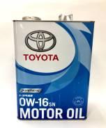 Toyota. 0W-16, синтетическое, 4,00л.