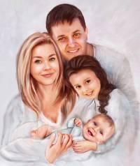 Подарок портрет шарж love is на свадьбу, годовщину, родителям