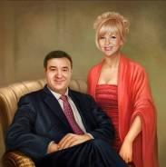Подарок на свадьбу, портрет на юбилей, родителям, портрет семьи