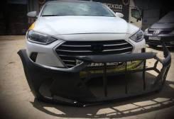 Бампер передний Hyundai Elantra 16-19г