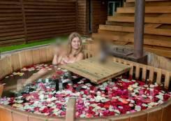 Организуем романтическое свидание! Камин + фурако с лепестками роз!
