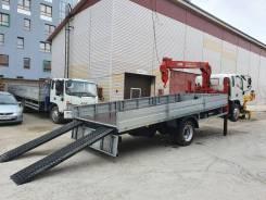 JAC N120. Эвакуатор с КМУ unic 344 H на новом грузовике 2020, 3 800куб. см., 7 001кг., 4x2