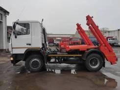 Коммаш КО-450-10. Контейнерный мусоровоз КО-450-10 на шасси МАЗ 5550С3-540-000 Евро 5