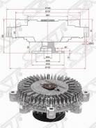Вискомуфта Hyundai Porter 04- /KIA Sorento 06-09 D4CB